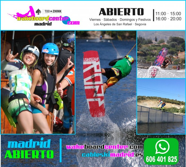 WAKEBOARDCENTER ASR | HORARIO